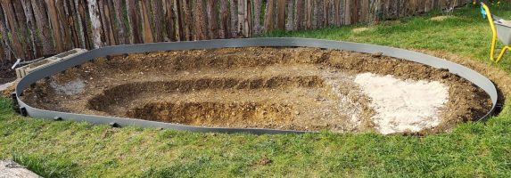 17. April 2020 – Das Projekt Gartenteich – Tag 7